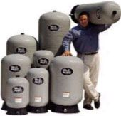 Man with pressure tanks